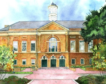 College of William and Mary,  11x14 Mat size Print of Mason School of Business