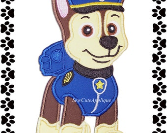 Paw Patrol Chase No Sew Applique Patch