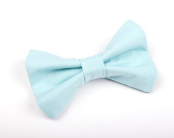 Robin's Egg Blue Bow Tie, boy's bow tie, toddler bow tie, light blue bow tie, blue bow tie,  baby bow tie, men's bow tie, blue kid's bow tie