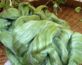 "Louet dyed merino silk spinning fiber top 4 oz ""Lichen"": saorisantacruz"