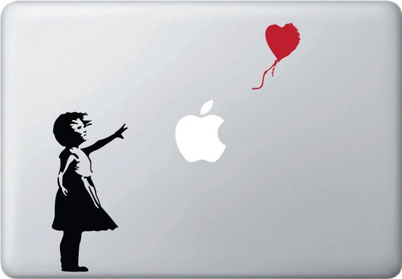 MB - The Girl with Red Balloon Vinyl Decal for Macbooks,  Laptops and More...