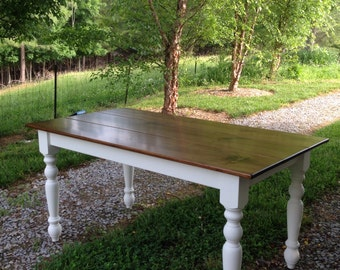 Rustic Farmhouse Table, Dining Room Table