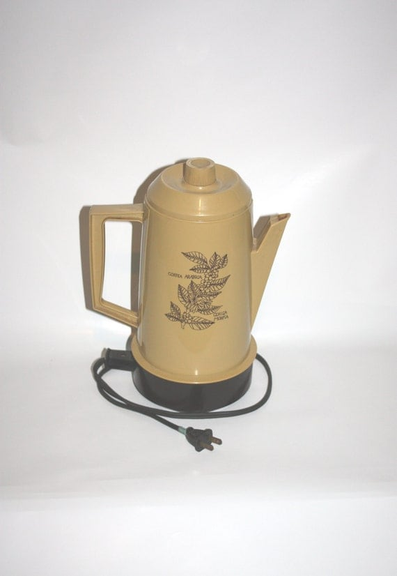 coffee percolator 1970s plastic vintage coffee maker home and living vintage appliances