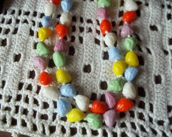 1950's German Glass Colored Bead Necklace