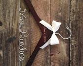 Bridal Hanger / Bride Hanger / Engraved Hanger / Burned Wedding Date / Wedding Hanger / Vintage Wedding / Rustic Hanger / Rustic Wedding