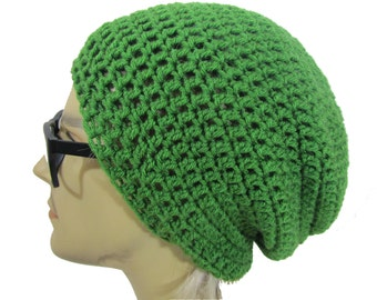 Slouchy Beanie -kelly green