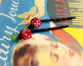 Mini Glitter Dice Bobby Pins- Lucky Number Seven