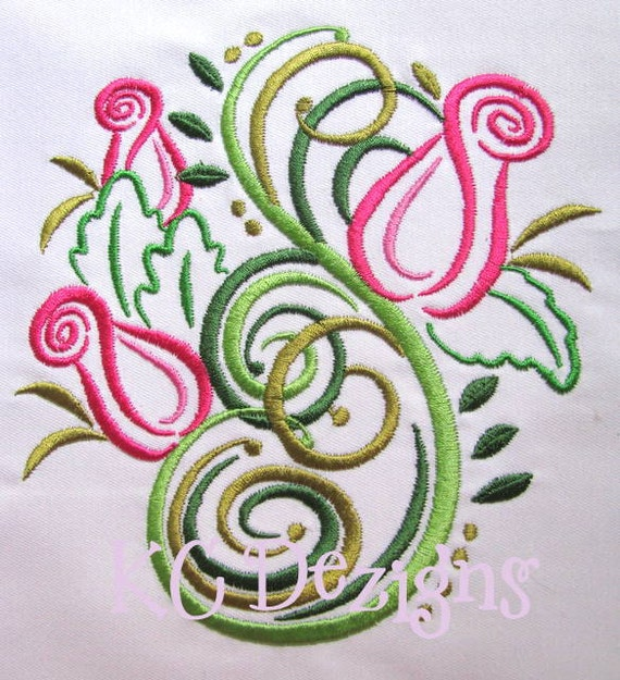 Items similar to outline roses machine embroidery design