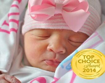 newborn hospital hat with bow Newborn baby baby girl take home outfit baby girl hat newborn girl hat infanteenie beanie baby girl