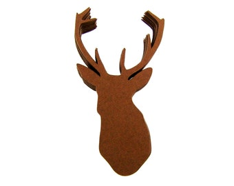 Deer Head Paper Cut Outs set of 25
