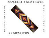 Loom pattern - native american inspired bracelet pattern - Fire's Temple