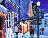 """Bike Art - Acrylic Painting - Snow - 8"""" x 10"""" - Mattie O"""