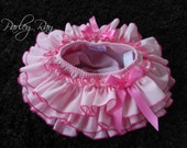 Beautiful Parley Ray Baby Girls Ruffle Skirt Pink all around Ruffled Baby Bloomers/ Diaper Cover / Photo Props