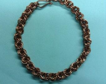 Copper Twist Coiled Handmade Bracelet