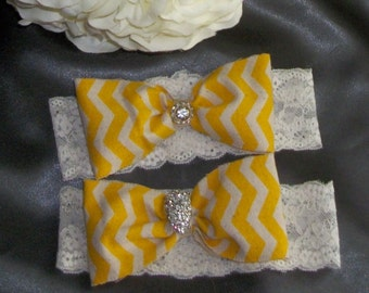 Yellow  Wedding,Burlap Garter,Chevron Garter,Lace Green Garter Set,Bridal Garter,Rustic Wedding,Burlap Wedding,Burlap