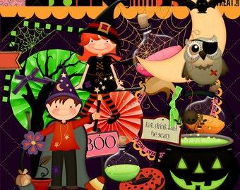 Halloween scrapbook, Halloween Party, Instant download