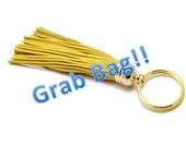 Leather Tassel Key Chain, Grab Bag, Fringe, Purse Decor, Hanger, Lanyard