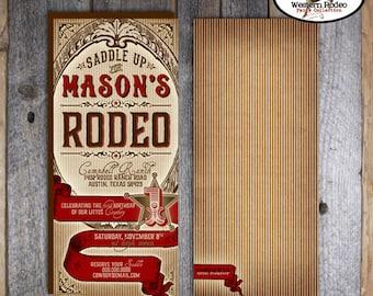 Cowboy Invitation | Cowboy Party Invitation | Rodeo Invitation | Rodeo Birthday Invitation | Wild West Birthday Western Party | Printable