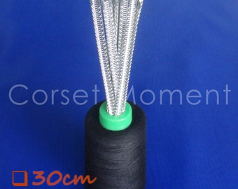 6 * 30CM Long Flexible Corset Spiral Steel Bones
