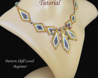 EXCALIBUR beaded necklace beading tutorial beadweaving pattern seed bead beadwork jewelry beadweaving tutorials beading pattern instructions