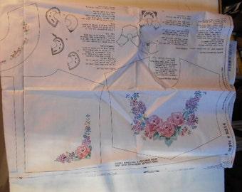 Daisy Kingdom sewing Panel,  Crisp Cotton, large & small Collars, Simplicity 8316