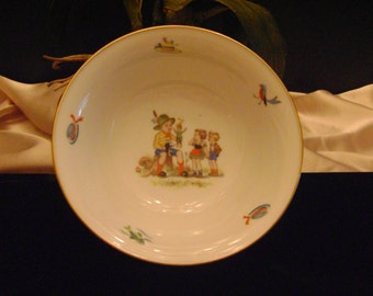 Childrens Tirschenreuth vintage transfer bowl.
