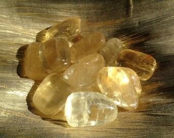 Tumbled Yellow Calcite