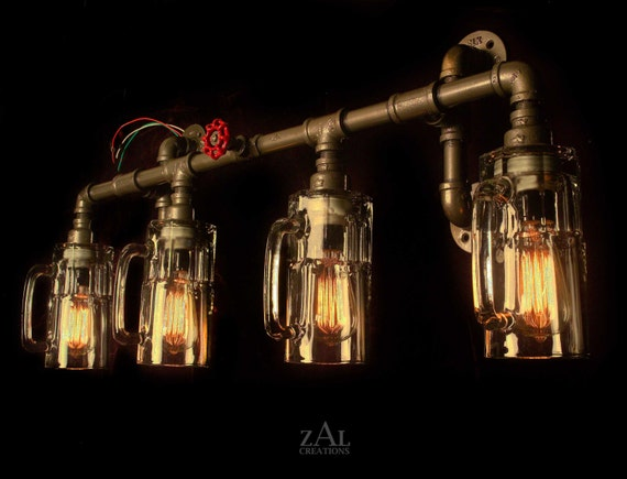 Vanity Light Plumbing Fittings Amp Beer Mugs With Vintage Style