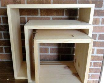 DIY Wooden Storage System Square or Rectangular Kitchen Bath Bedroom