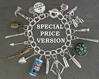 SPECIAL PRICE VERSION Zombie Plan Charm Bracelet For The Zombie Apocalypse... Alternative Version