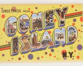 Greetings from Coney Island Fridge Magnet