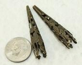 Bronze Filigree Iron Bead Cone 41mm (50pcs) B46