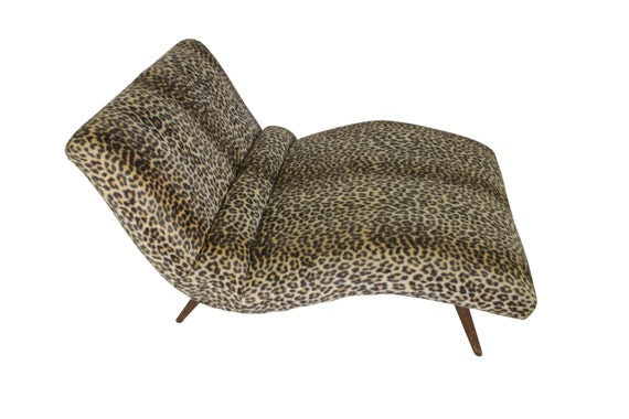 Mid Century Modern vintage Adrian Pearsall chaise by GreStuff