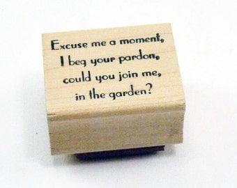 Meet me in the garden Rubber Stamp