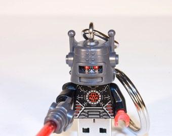 128GB Evil Robot USB Flash Drive with Key Chain