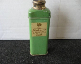Vintage Cashmere Bouquet Sample Sized Talcum Powder Tin