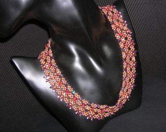 Tutorial - Fire and Ashes Superduo - Bricks beading Tutorial Necklace