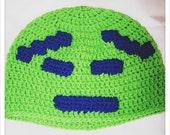 8 Bit Moon Alien - Aqua Teen Hunger Force Ignignokt the Mooninite Inspired - Crochet Cosplay Hat