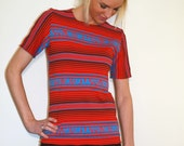 50% OFF SALE - T-Shirt from Navajo Inspired Jersey Fabric with Short Sleeves - Free Domestic Shipping