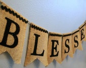 BLESSED Burlap Banner with Felt Letters