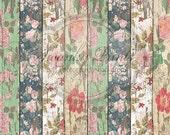 SWANKY PRINTS ORIGINAL 3.5ft x 3.5ft Vinyl Photography Backdrop / Floral Wood Backdrop