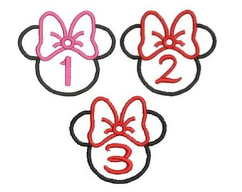 Minnie Mouse Embroidery Design, Applique Mouse (37, 24 171) Instant Download