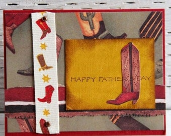 Cowboy Boots Father's Day Card