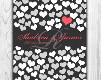 Unique Wedding Guest Book | BRIDAL GIFT POSTER | 84 Guest Sign In 16x20 | Wedding Memoir Custom Guestbook Poster | Interactive Art Print_04