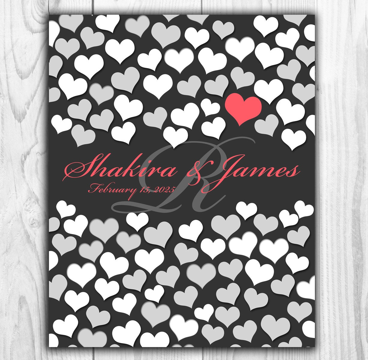 Unique Wedding Guest Gifts : Unique Wedding Guest Book BRIDAL GIFT POSTER 84 Guest Sign