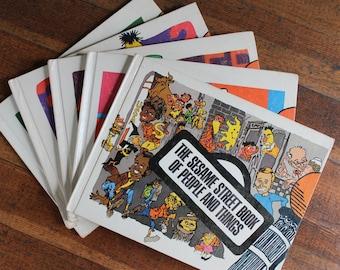 Vintage Children's Book Instant Collection - Sesame Street Books - Set of 5