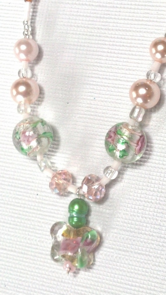 girls special occasion necklace wedding necklace flower