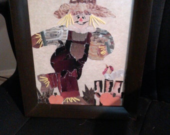 Scarecrow  torn paper Art picture ON SALE