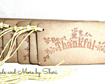 Be Thankful Gift Tags