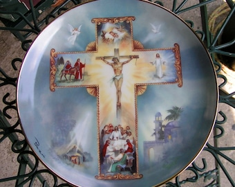 1990 The Life Of Christ Collector Plate by Barzoni Franklin Mint